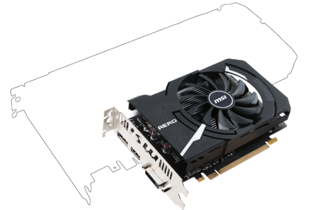 MSI GeForce GTX 1050Ti AERO ITX 4GB GDDR5 128-bit